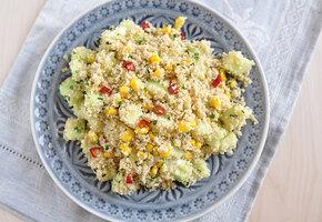 Самый быстрый постый ужин – салат и гарнир в одном блюде