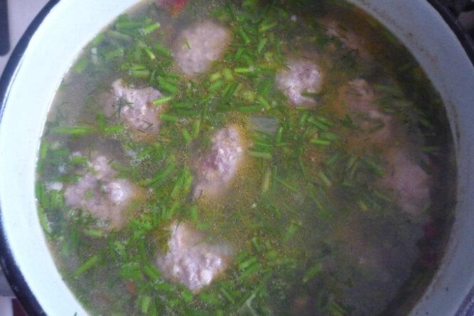 Суп «Фрикадельки в укропе»