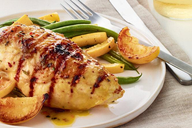 Курица с масляно-лимонным соусом