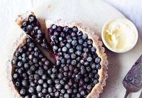 Рецепт пирога со свежей черникой