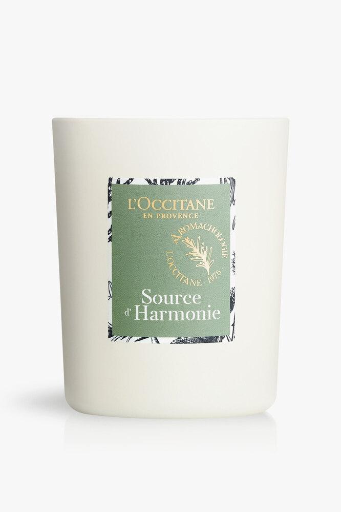 """Свеча c эфирными маслами кипариса,чабреца, эвкалипта, можжевельника и иланг-иланга """"Источник гармонии"""", L'Occitane"""