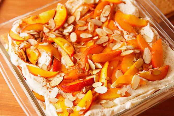 Персиковая лазанья