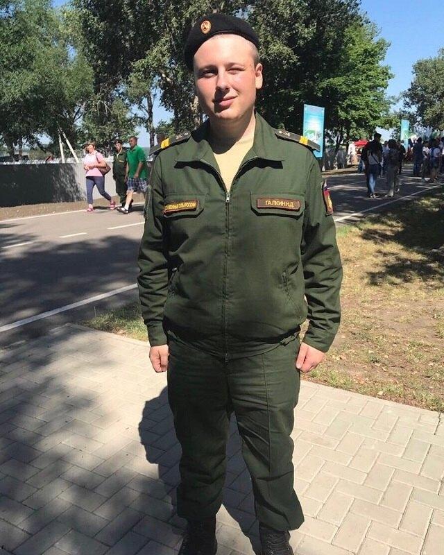 Никита Галкин во время службы в армии