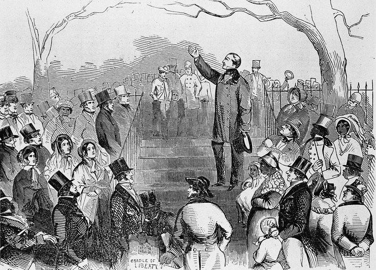 Американский митинг против рабства