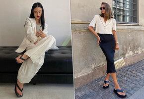 Не пляжная мода: как носить вьетнамки этим летом?