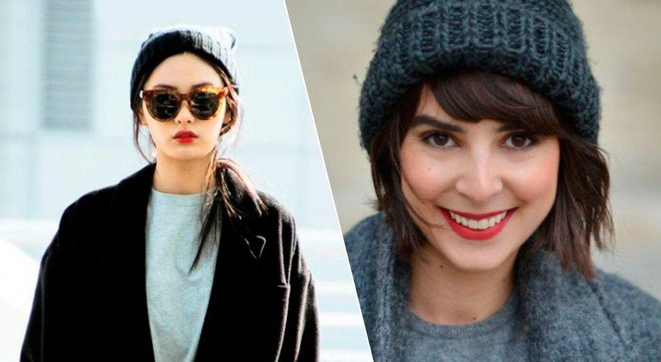 Как носить шапку-бини сразными видами причесок