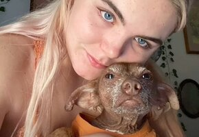 «Вы изменили мир»: девушка подобрала лысую собаку, и теперь ее не узнать