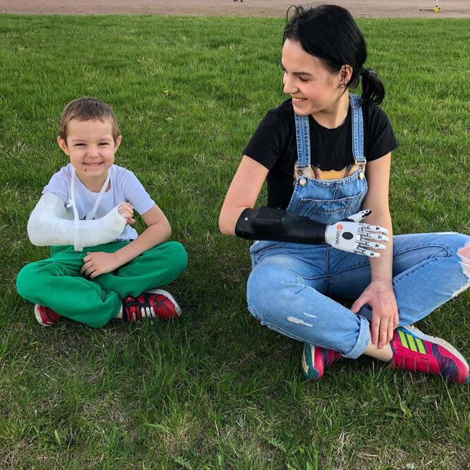 Маргарита Грачева с сыном