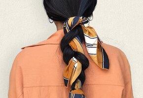 5 легких причесок на длинные волосы: с платком, бантом, лентой
