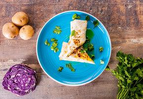Рецепт вегашавермы с картошкой и авокадо