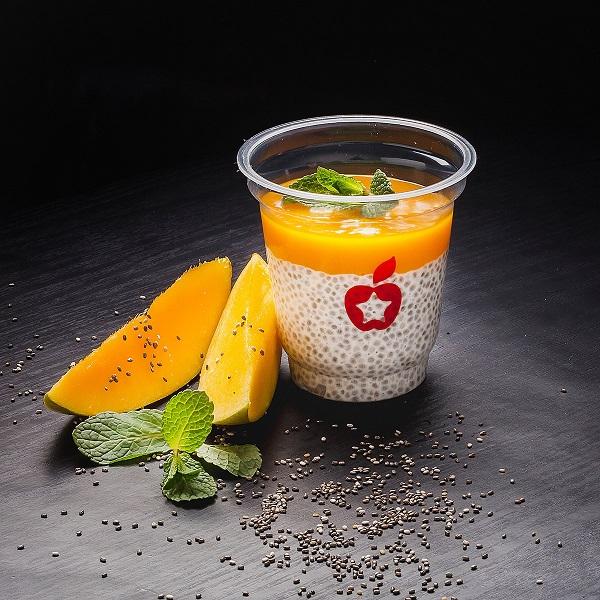 Завтрак с семенами чиа и манго