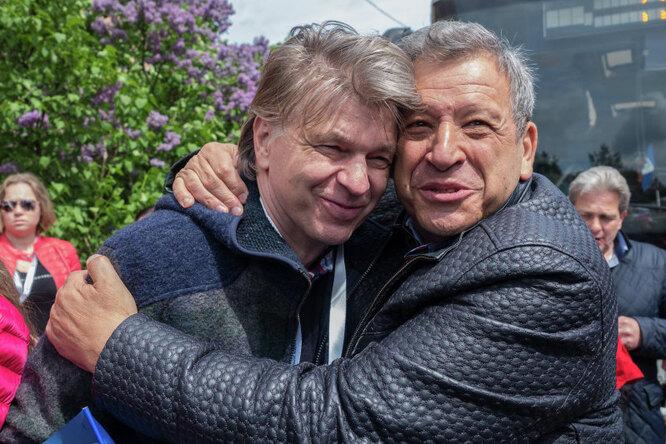 Борис Грачевский (справа) и телеведущий Андрей Бахметьев