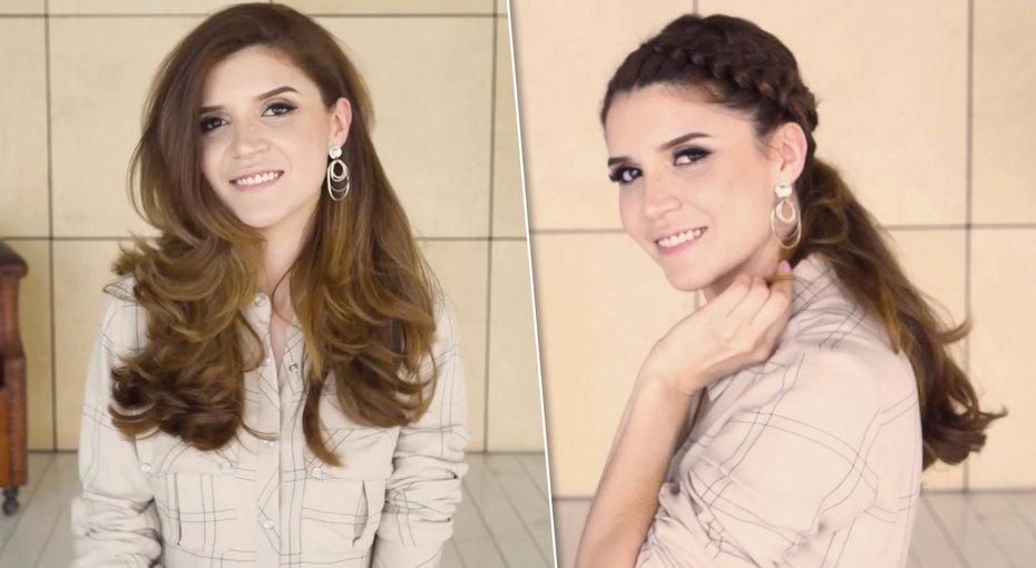 Объемный хвост сдвойной косой: мастер-класс блогера Ирины Акопян