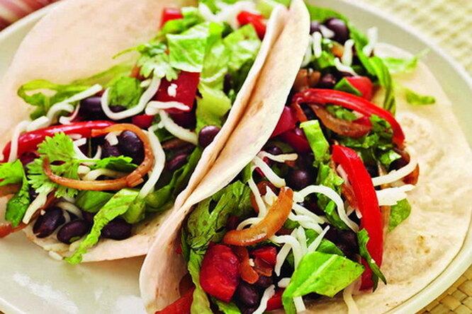 Тортильяс с овощной начинкой