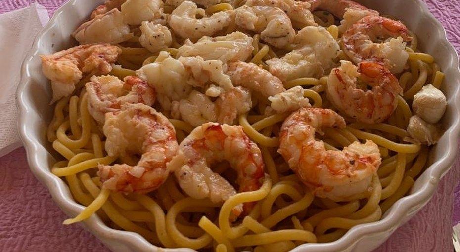 Итальянская паста скреветками, рецепт Мануэлы Бортоламеолли