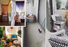 Курорт за порогом: 5 идей использования балкона (фото до и после)