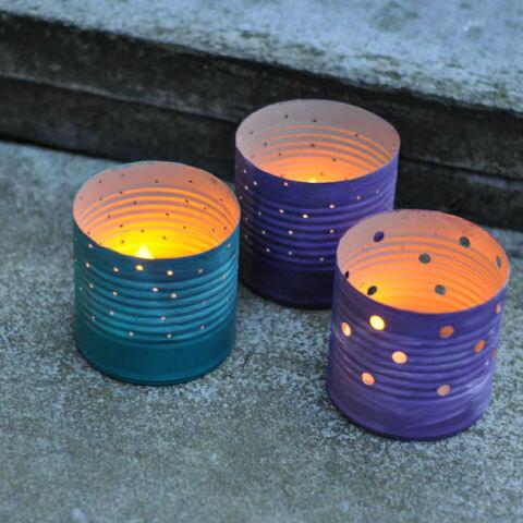 Стало: подставки для свечей в саду