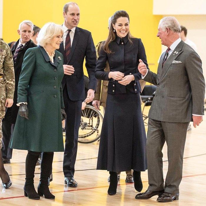 Принц Чарльз, герцогиня Камилла, принц Уильям иКейт Миддлтон