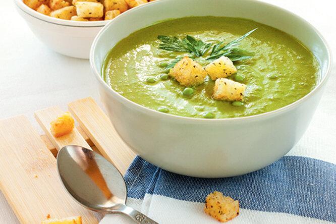 Суп - пюре из горошка