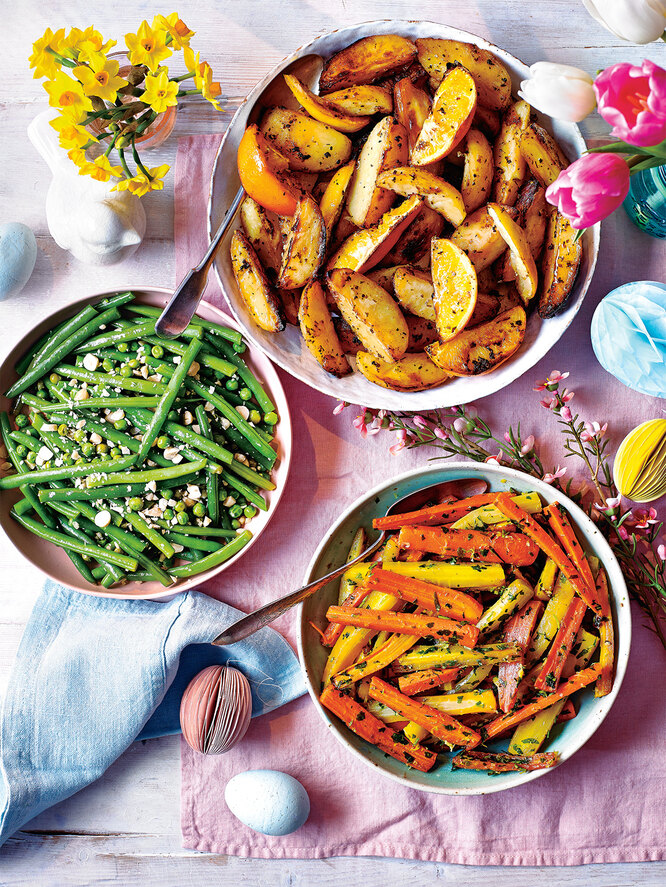 Запеченная морковь с гремолатой