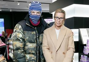 Ника Белоцерковская и рэпер Pharaon на открытии флагмана Sephora в Санкт-Петербурге