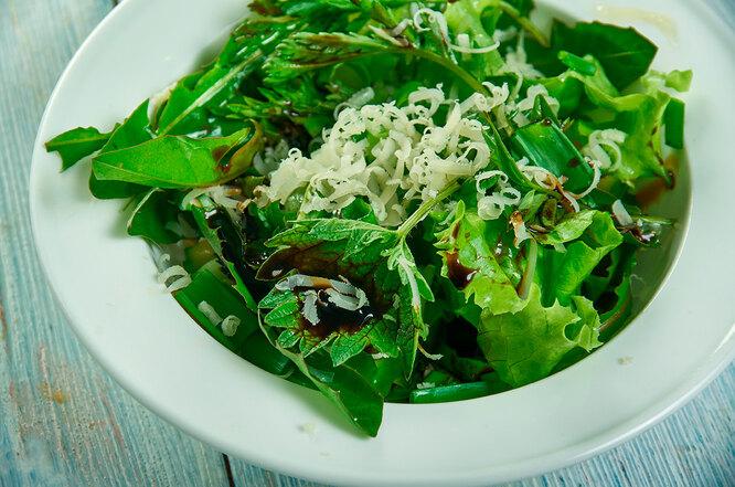 Рецепт салата из крапивы, щавеля и зеленого лука