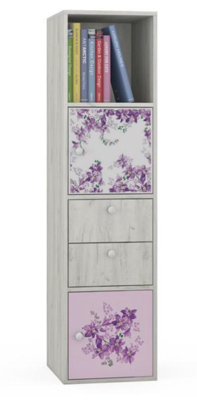 """Inmyroom, Стеллаж с цветочным рисунком """"Нижегородмебель и К"""", 4972 руб"""