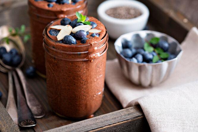 Рецепт шоколадного мусса из семян чиа