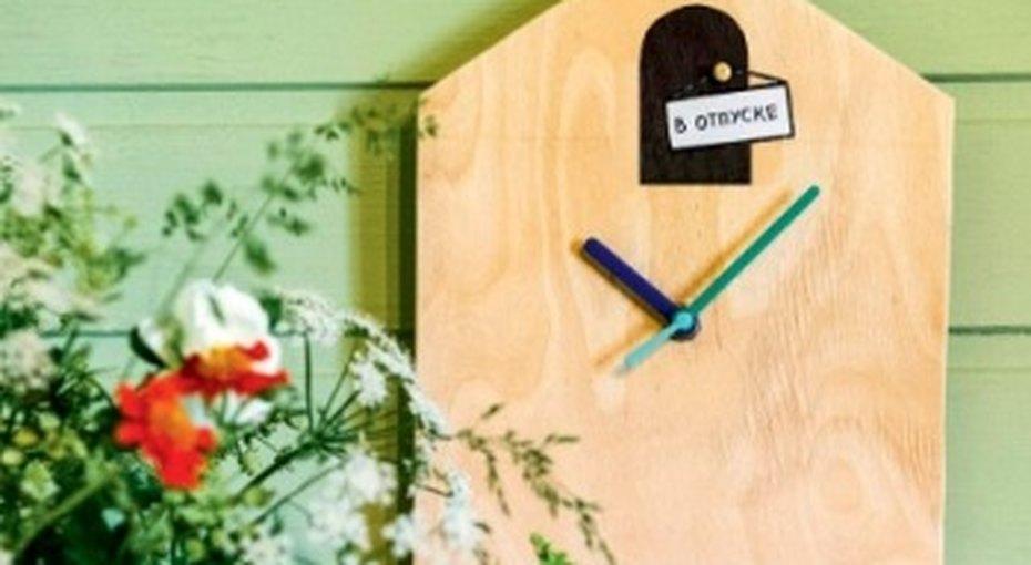 Часы безкукушки: украшение длядачи своими руками