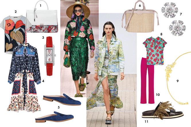 Одежда и обувь с цветочными принтами