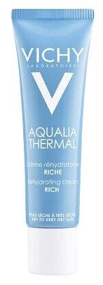 Увлажняющий крем для очень сухой кожи Aqualia Thermal Riche, Vichy, 1019 руб