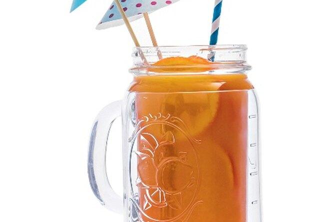 Коктейль с апельсином и персиком