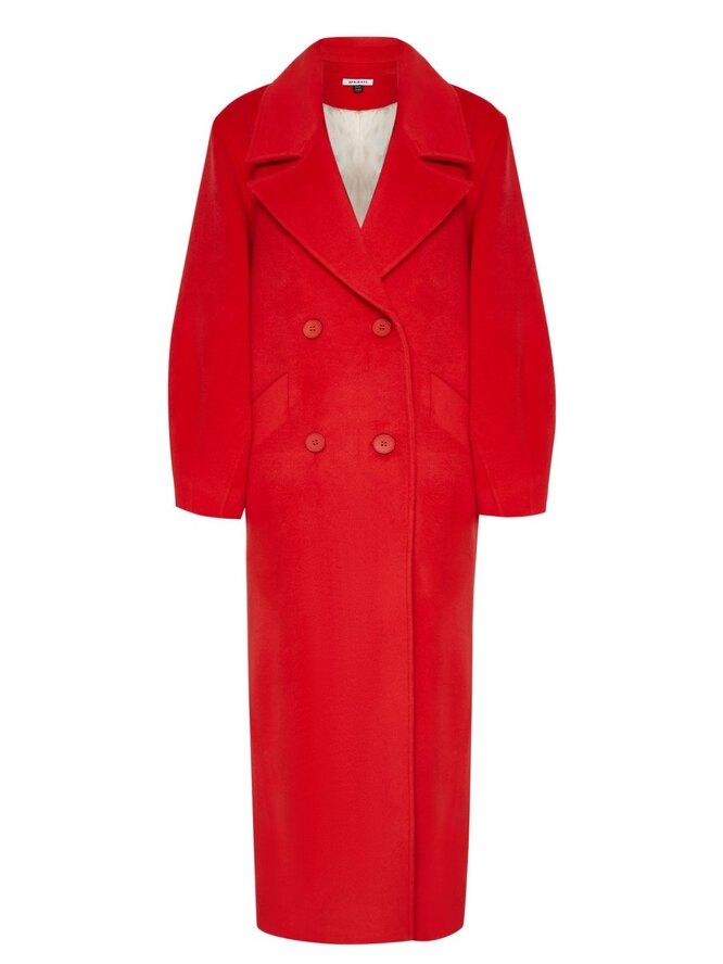 Пальто-кокон в красном цвете, 8 Fridays, 23 000 руб