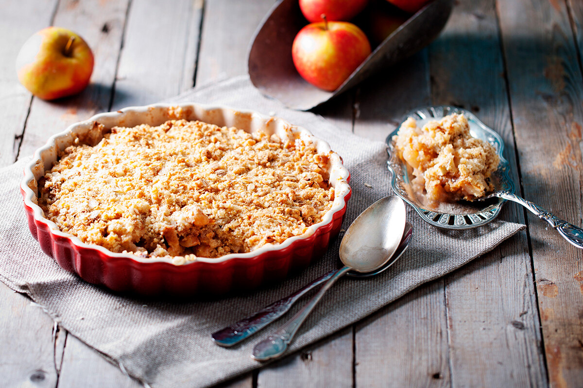 Рецепт овсяного яблочного пирога