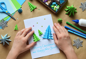 Делаем открытки к Новому году: 3 классных способа увлечь ребенка