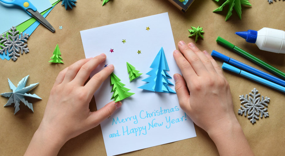 Делаем открытки кНовому году: 3 классных способа увлечь ребенка