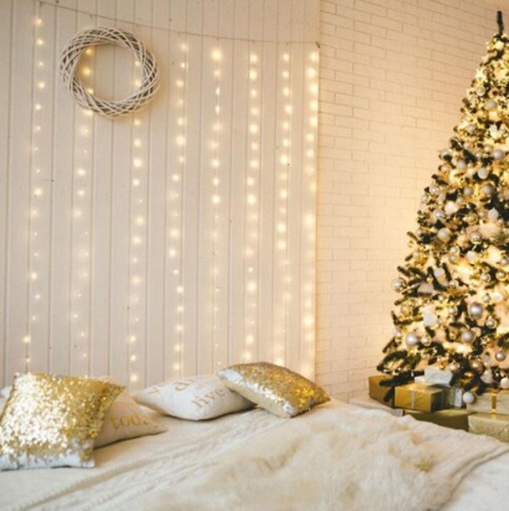OBI, Glos, Занавес мерцающий 300 LED теплый белый 2х1,5 м, 3699 руб