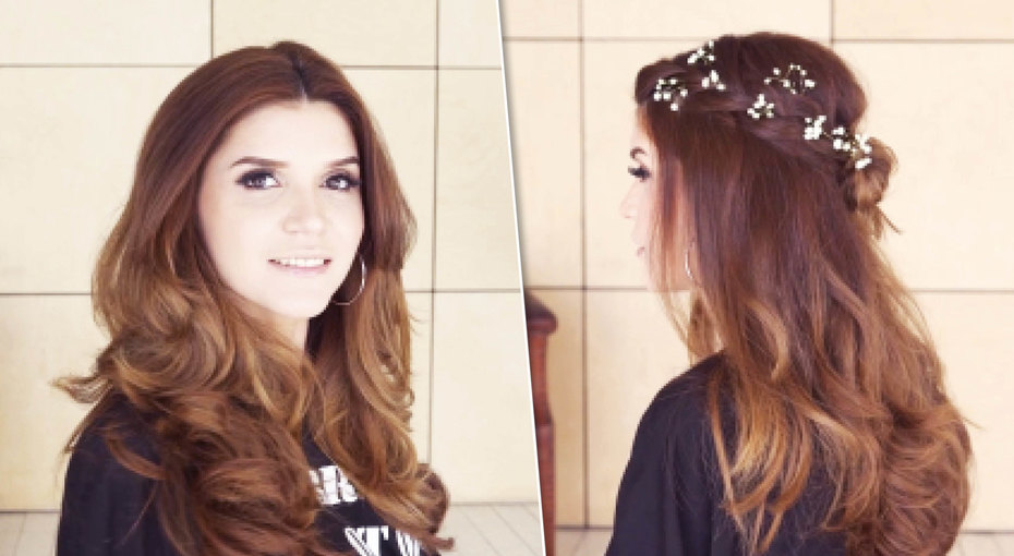 Венок изфранцузской косы: видеоурок блогера Ирины Акопян