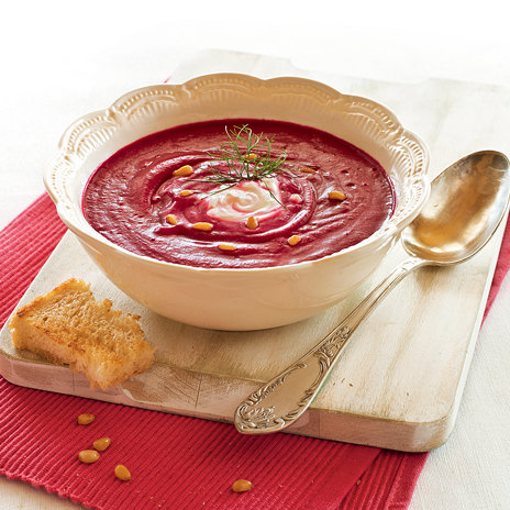 Суп — пюре из печеной свеклы