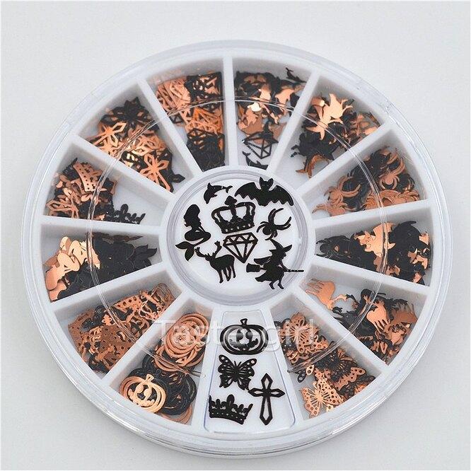 Металлические 3D наклейки для дизайна ногтей, Aliexpress, 240 руб