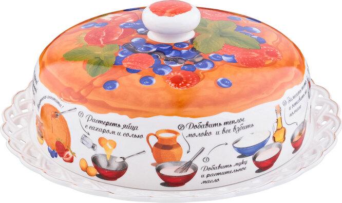 Тарелка для блинов с крышкой