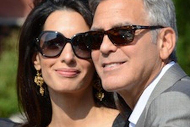 Джоржд Клуни впервые появился напублике сженой