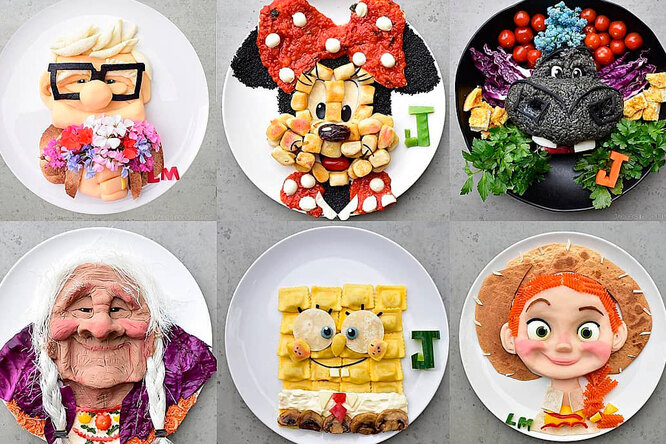 Австралийка готовит сыну блюда ввиде мультяшных персонажей. Хотите так же?