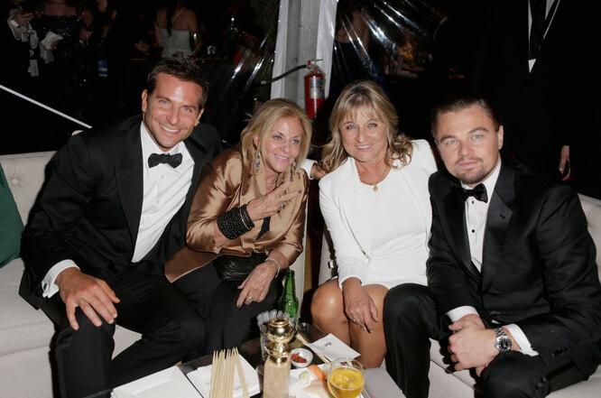 2014 Ди Каприо, Брэдли Купер и мамы обоих актеров.