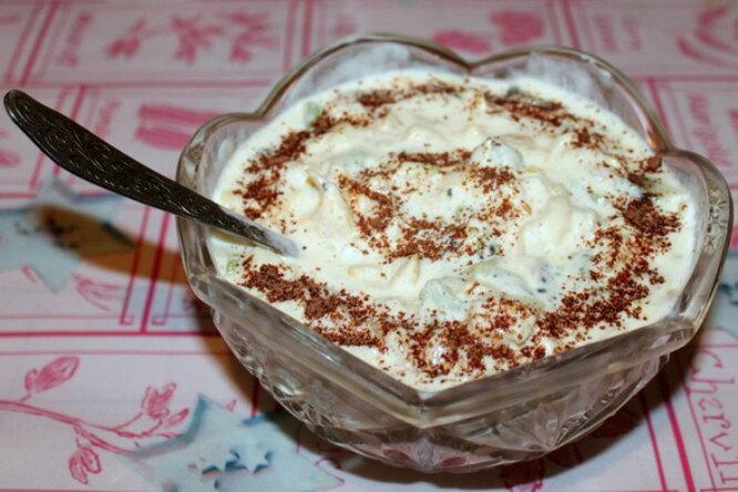Десерт с пломбиром «Наслаждение»
