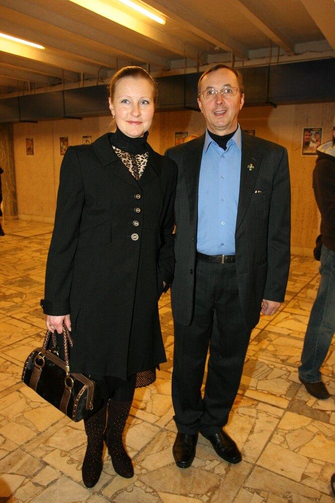Николай Бурляев с третьей женой Ингой Шатовой в 2007 году