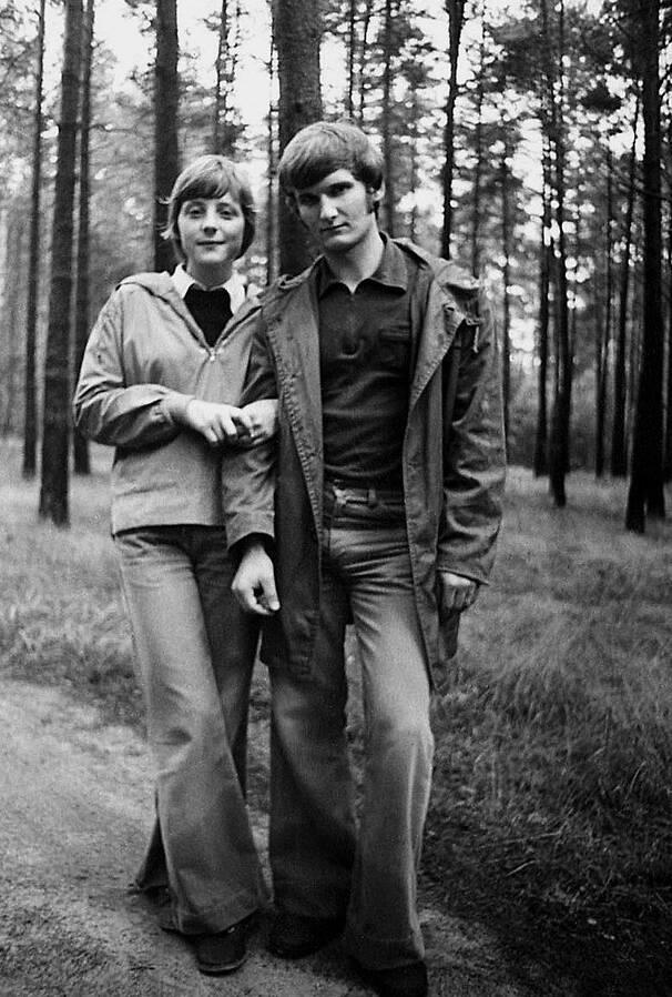 Ангела Меркель с первым мужем Ульрихом