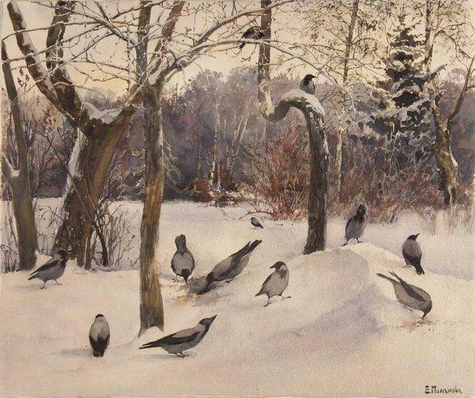 Пейзаж с воронами, 1880-е