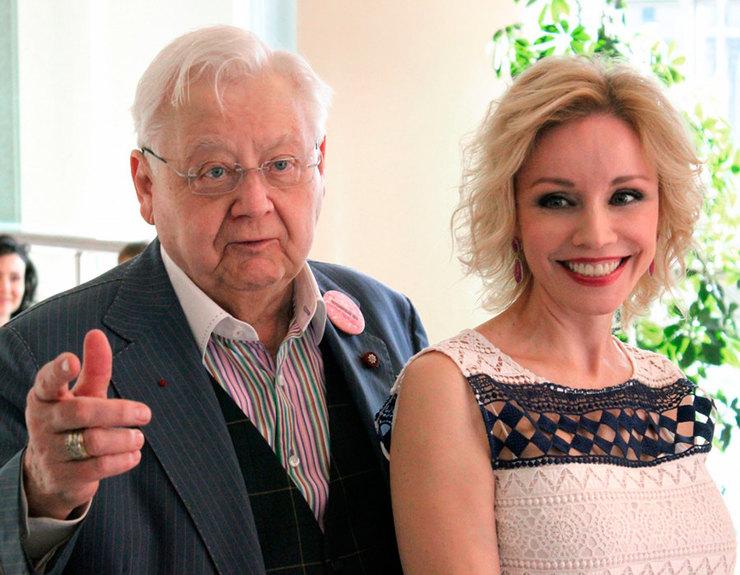 Олег Табаков иМарина Зудина