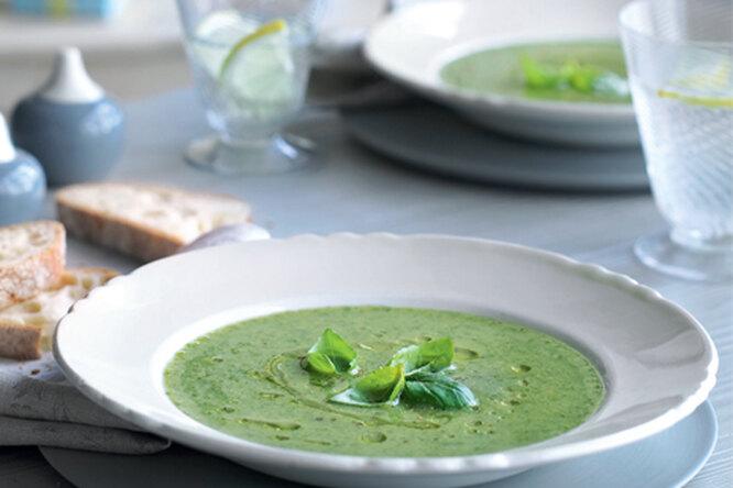 Овощной суп с базиликом